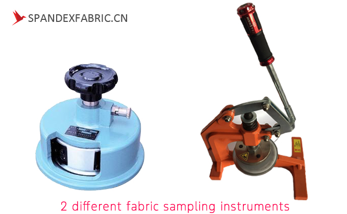 2 different fabric sampling instruments