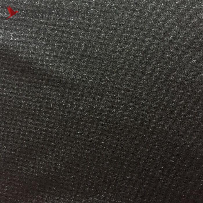4 Way Stretch Black Lycra Nylon Muslin Fabric