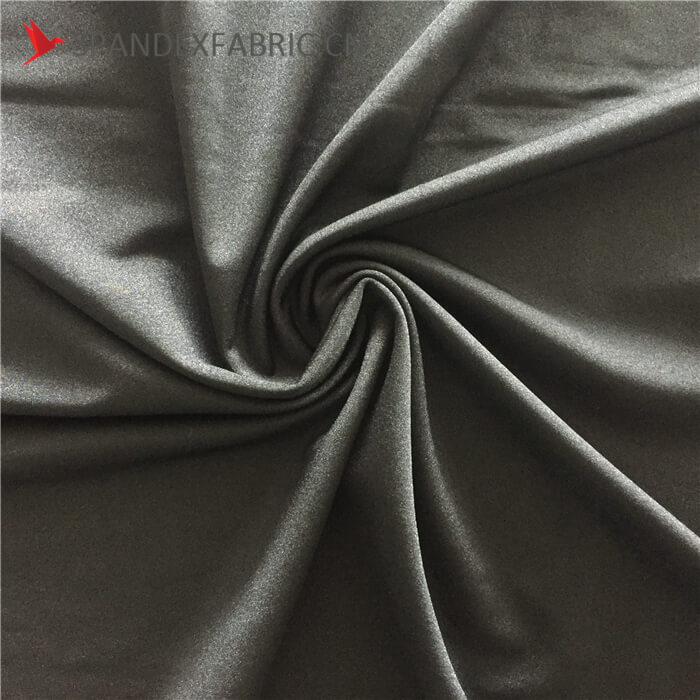 4 Way Stretch Black Lycra Nylon Muslin Fabric
