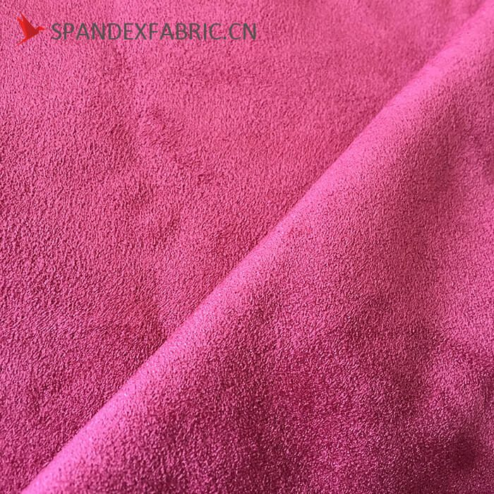 430 GSM Polyester Lycra Sofa Stretchable Suede Fabric 1