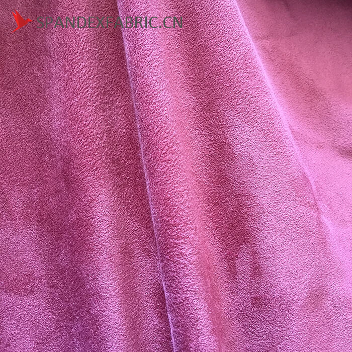 430 GSM Polyester Lycra Sofa Stretchable Suede Fabric 3