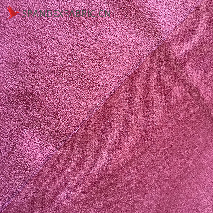 430 GSM Polyester Lycra Sofa Stretchable Suede Fabric 4