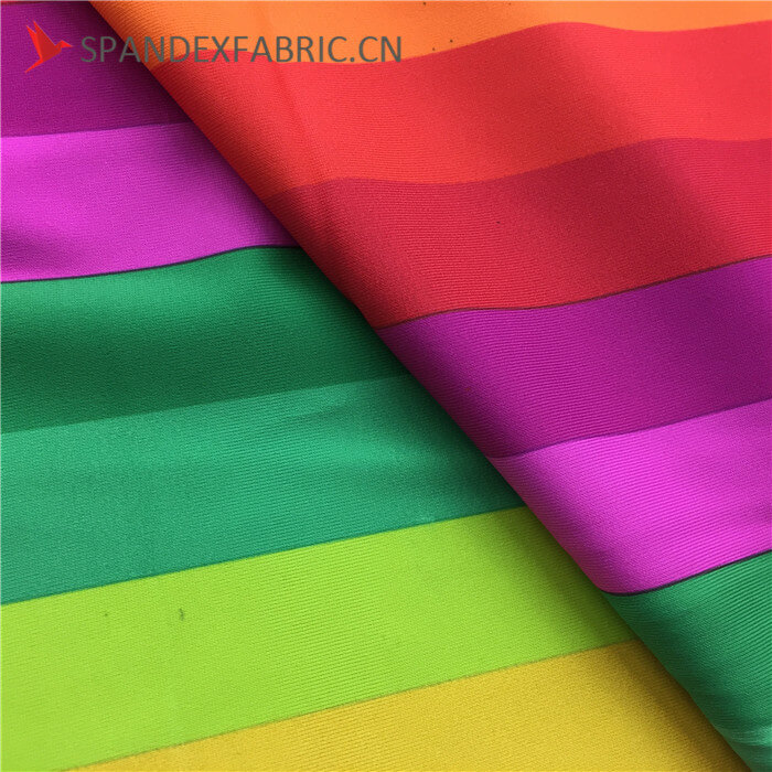 Bi Stretch Rainbow Elastic Suitcase Cover Fabric