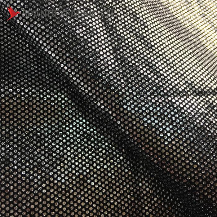 Black Aluminum Transfer Foil Lycra Printing Fabric