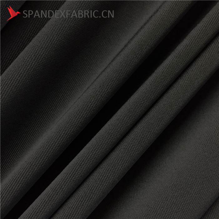 Black DTY Strong Stretch Fabric For Leggings