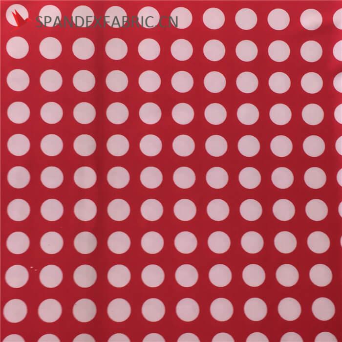 Cheap Polka Dot Poly Spandex Fabric Wholesale