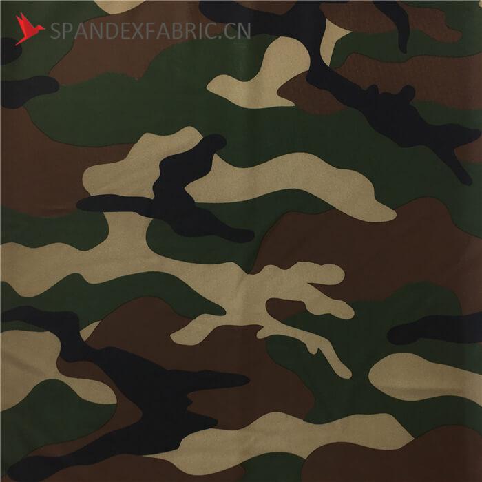 Camo Print Heavy Duty Dacron Spandex Fabric