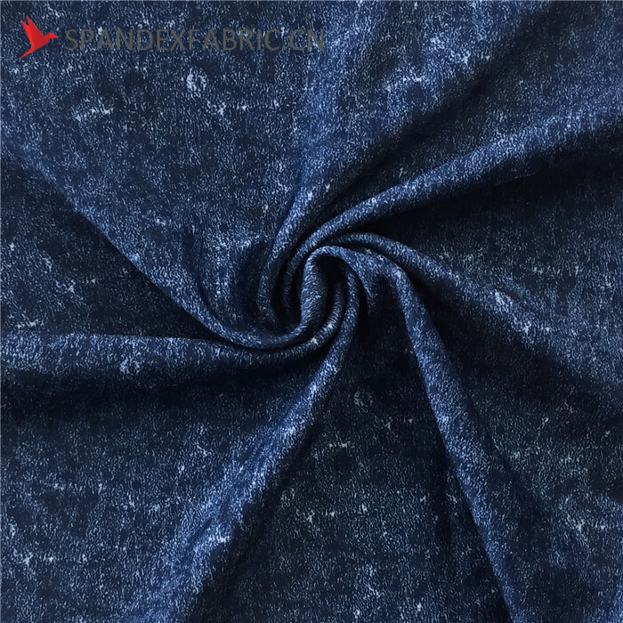 Denim Print Poly Lycra Stretch Fabric