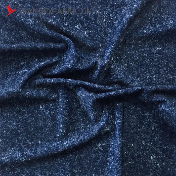 Denim Print Poly Lycra Stretch Fabric