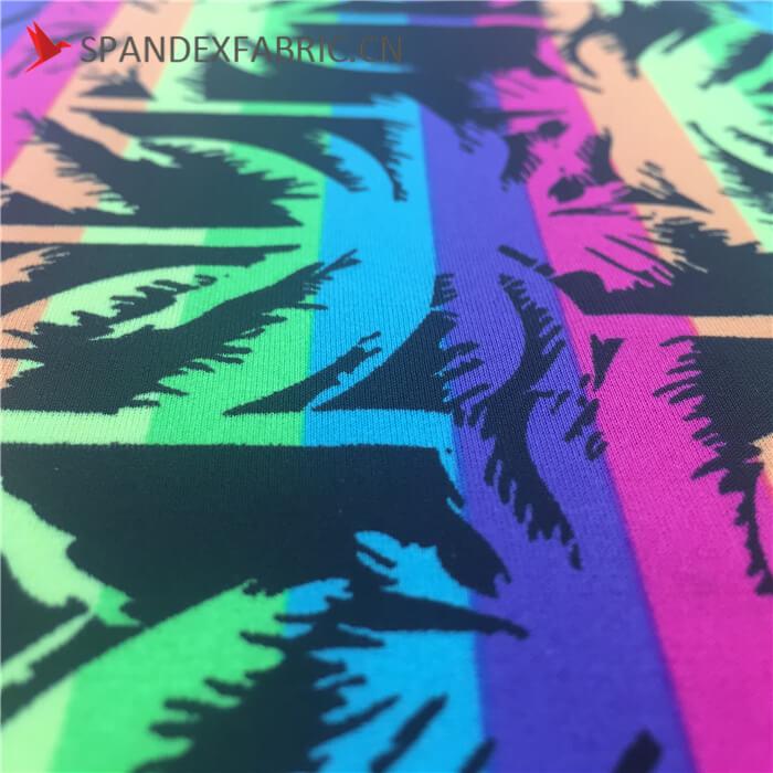 Fluorescence Tropical Print Polyamide Spandex Beachwear Fabric