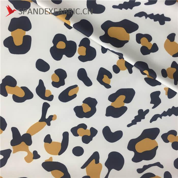 Leopard Lycra Polyester Stretch Knit Fabric