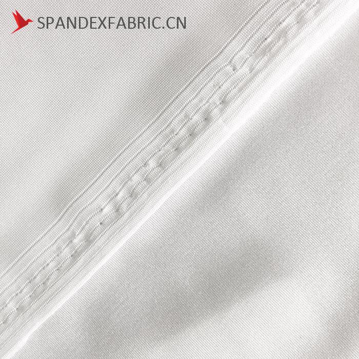 Polyester Spandex White Stretch Satin Fabric