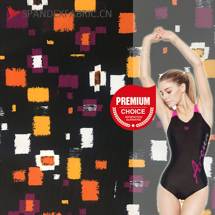 Printed Lycra Nylon Swimwear Fabric