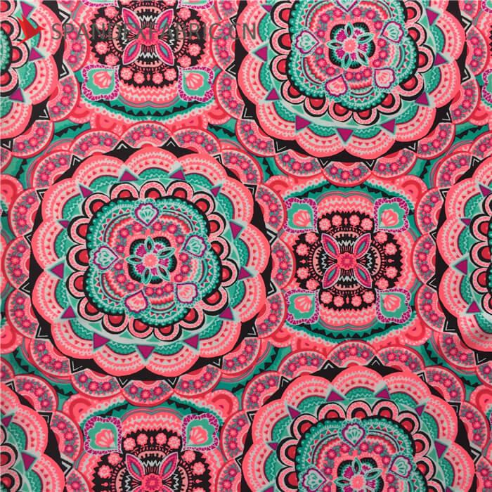 Printed Nylon Lycra Blend Stretch Fabric By The Yard