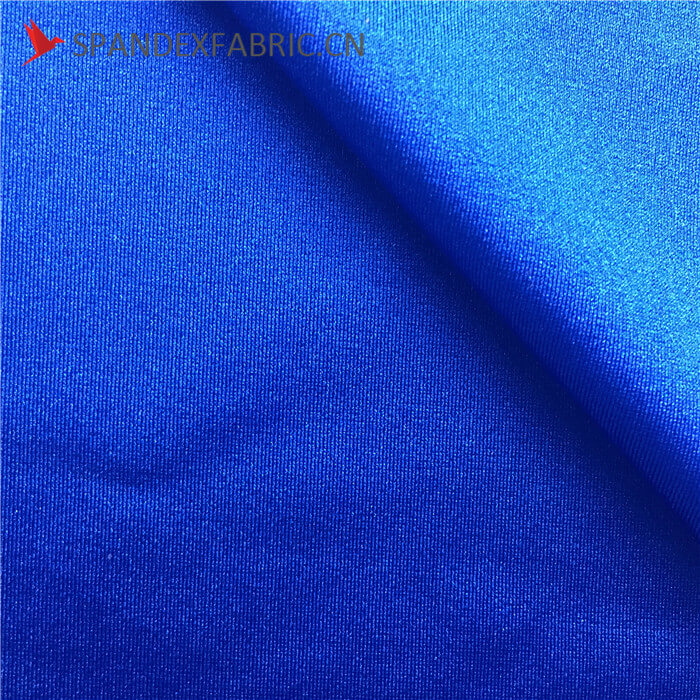 Shiny Navy Blue Spandex Sports Wear Fabric