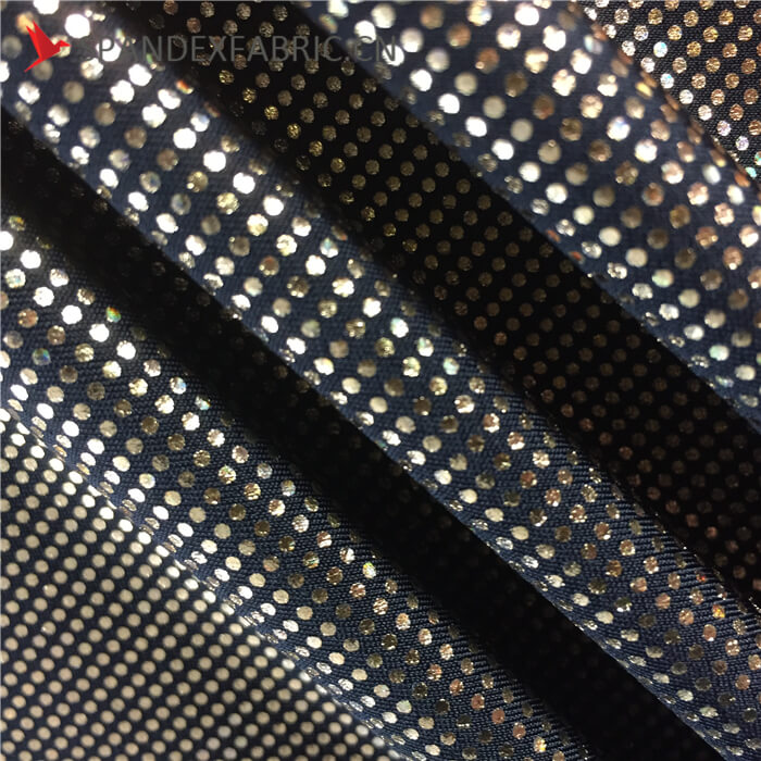 Spandex Polyester Hot Stamping Foil Printing Gilded Bronzing Fabric