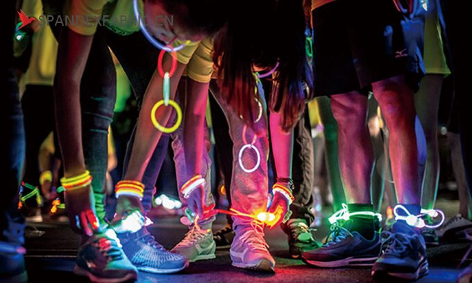 Talk about the fluorescent neon spandex fabric
